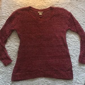 Lucky Brand Red Knit Sweater Size S